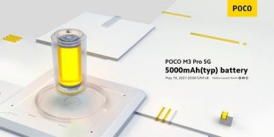 Dung lượng pin 5000mAh cho Xiaomi Poco M3 Pro 5G