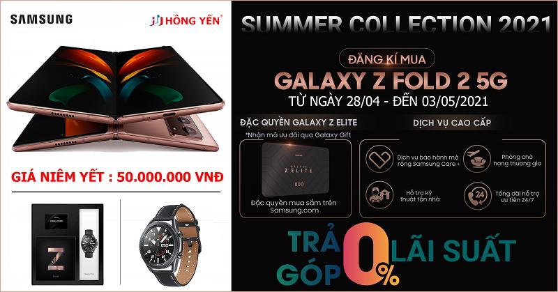 PRE-ORDER Samsung Galaxy Z Flod 2 5G Limited Collection Summer 2021
