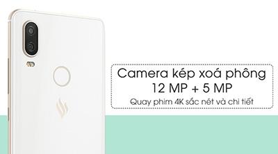 Camera kép xoá phong 12MP và 5MP, hỗ trợ quay phim 4K sắc nét và chi tiết.