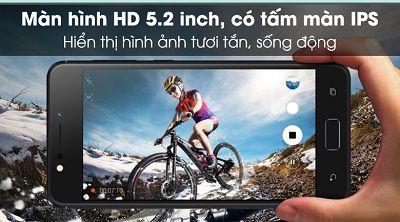 Asus Zenfone 4 Max với kích thước màn hình 5.2 inch