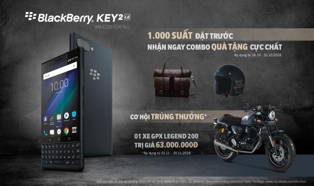 Chương trình Pre-order dành cho Blackberry Key2 LE cực hấp dẫn