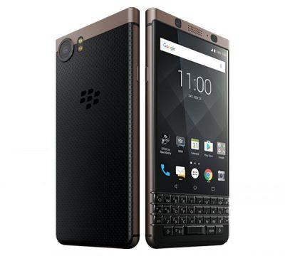 Điện toại BlackBerry KEYone Bronze Edition với tông màu chủ đạo là đen và vàng đồng