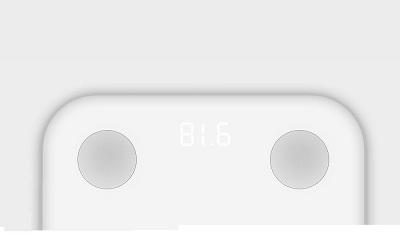 Cân điện tử Xiaomi Smart Scale 2 được tích hợp đèn LED ở mặt cân.