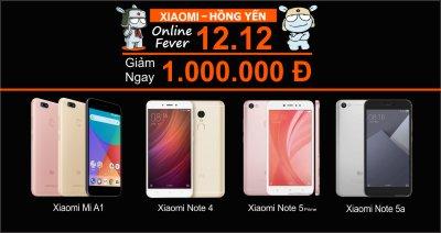 Online Fever 12.12.2017 giảm giá hàng loạt sản phẩm xiaomi