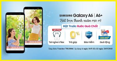 Bộ đôi điện thoại Samsung Galaxy A6 2018 và Samsung Galaxy A6 Plus 2018