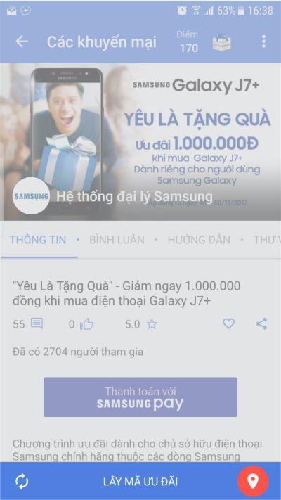 Samsung Galaxy J7 Plus - Yêu Là Tặng Quà - Chọn Lấy Mã Ưu Đãi