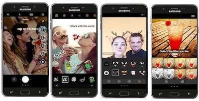 Tính năng Live stickers và Live filters trên camera salfie