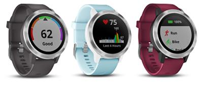 Với 3 màu sắc : Đen, Xanh, Đỏ trên đồng hồ thông minh Garmin Active 3 Element