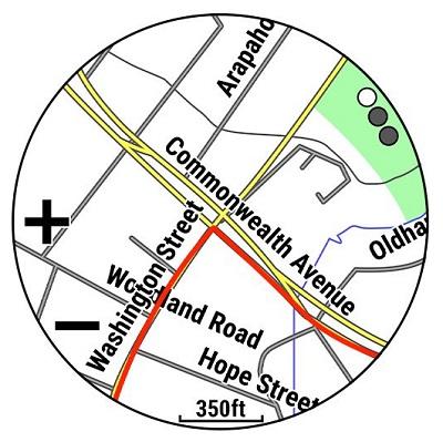 Tính năng định vị GPS chuẩn xác, hiển thị màu sắc rõ nét