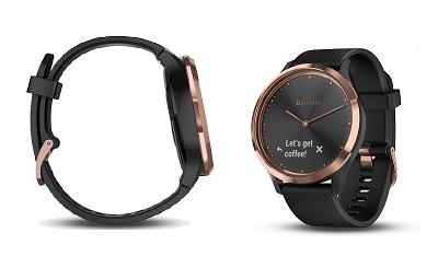 Đồng hồ thông minh Garmin Vivomove HR Sport (Black-Rose Gold)
