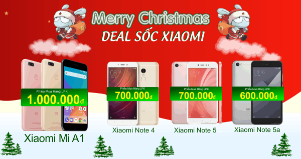 Vui Giáng Sinh, Deal Sốc Xiaomi