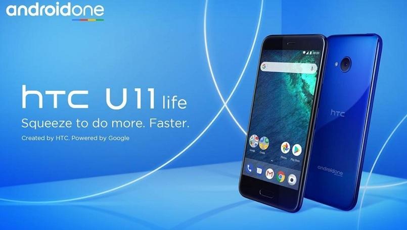 HTC U11 Life ra mắt với màn hình 5.2 inch, Snapdragon 630, 4GB RAM, chống nước IP67 là điện thoại Android One đầu tiên của HTC