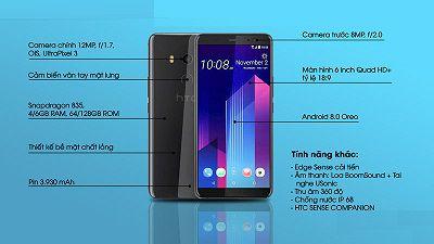Cấu hình HTC U11 Plus với cải tiến hoàn toàn mới.