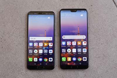 Màn hình của 2 phiên bản P20 và P20 Pro có