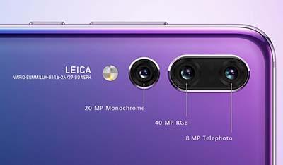 Ba camera sau của phiên bản P20 Pro.