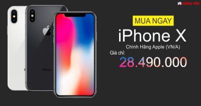 Mua Ngay Iphone X Với Giá Chỉ 28.990.000 VNĐ