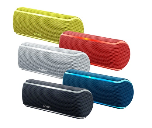 5 màu sặc khác nhau cho loa Sony SRS - XB21