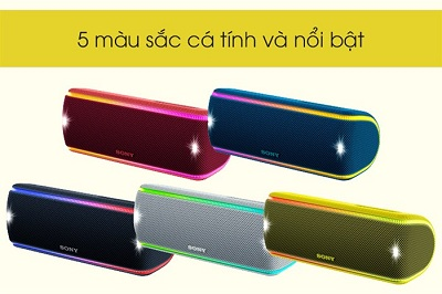 5 màu sặc khác nhau cho loa Sony SRS - XB31
