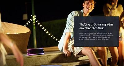 Loa Sony SRS - XB31 mang lại âm thanh đích thực