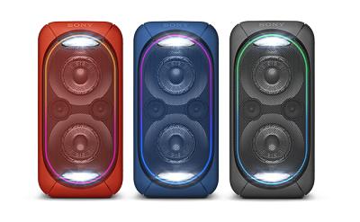 Loa Sony GTK-XB60 - Với 3 màu sắc nổi bật : đỏ, đen, xanh
