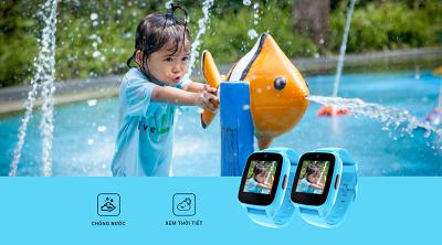 Công nghệ chống nước chuẩn IP64 giúp bé thoải mái vui chơi và thể thao