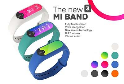 Hình ảnh minh hoạ của Xiaomi Mi Band 3.
