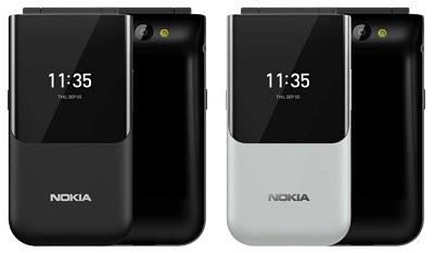 Với 2 màu sắc : Đen, Trắng trên điện thoại Nokia 2720 Flip