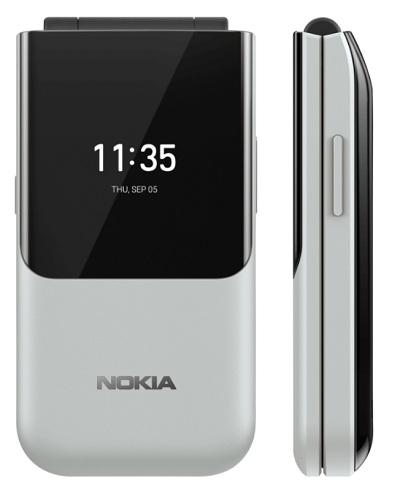 Nút khẩn cấp tích hợp cạnh bên của điện thoại Nokia 2720 Flip