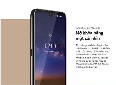 Tính năng mở khóa khuôn mặt trên Nokia 2.2