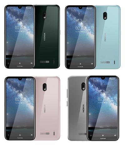 Với 4 màu : Đen, Xanh, Bạc, Hồng trên điện thoại Nokia 2.2