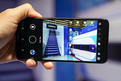 Giao diện camera trên Nokia 6.1 Plus