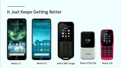 Điện thoại Nokia 7.2 và một số sản phẩm khác của Nokia