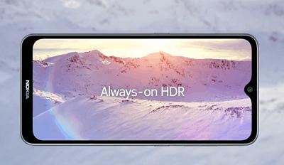 Màn hình hiển thị sắc nét ngay cả ngoài trời trên điện thoại Nokia 7.2