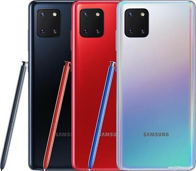 Với 2 màu sặc : Ánh cực quang và Đen pha lê trên điện thoại Samsung Galaxy Note 10 Lite