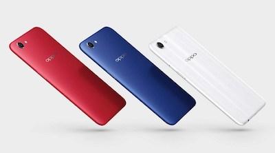 Điện thoại Oppo A1 với 3 tông màu trẻ trung.
