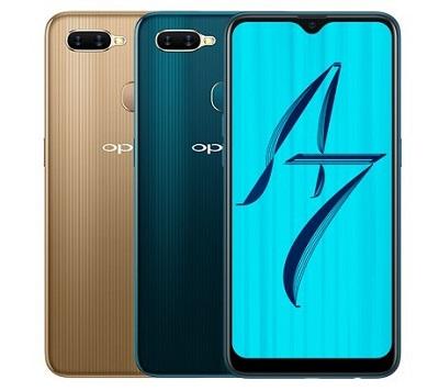 2 màu sắc tương phản nhau trên dòng điện thoại Oppo A7