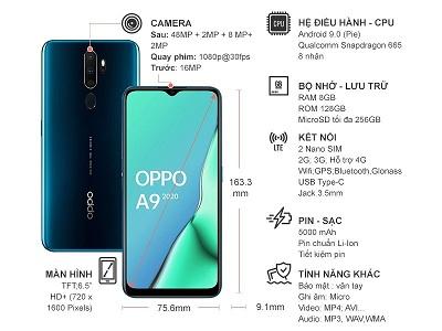 Hiệu năng mạnh mẽ, mượt mà trên điện thoại Oppo A9 2020