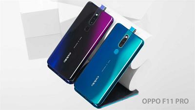 Với 2 màu khác biệt là đen thiên thạch và xanh thiên hà trên điện thoại Oppo F11 Pro