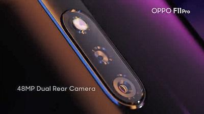Cụm camera kép với độ phân giải cao trên Oppo F11 Pro