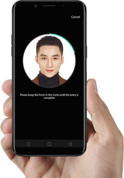 Hiệu ứng nhận diện bằng khuôn mặt của Oppo F5