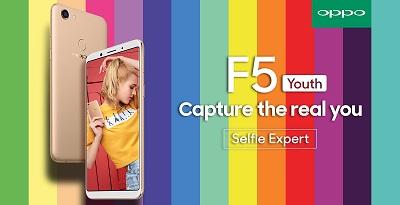 OPPO F5 Youth ra mắt giống với F5, RAM giảm còn 3 GB