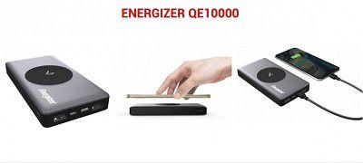 pin sạc dự phòng Energizer 10000mAh tích hợp sạc không dây Qi 5W - QE10000