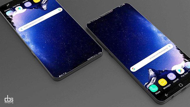Thiết kế màn hình của Galaxy s9
