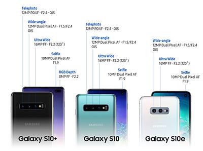 Thông số chi tiết camera trên S10, S10+ và S10e