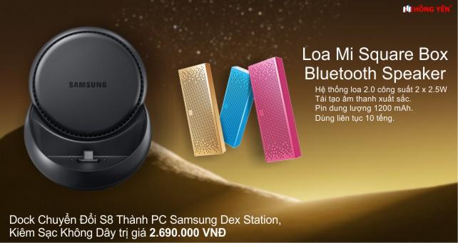 Đặt Trước Samsung Galaxy S8 nhận ngay dock chuyển đổi thành pc và loa xiaomi bluetooth