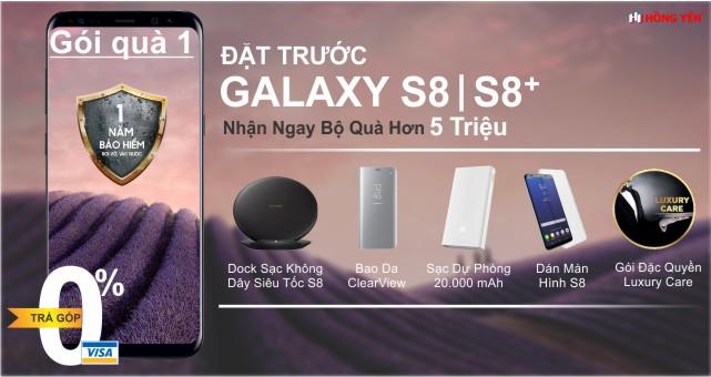 Đặt Trước Samsung Galaxy S8, s8 plus nhận ngay bộ quà 5 triệu