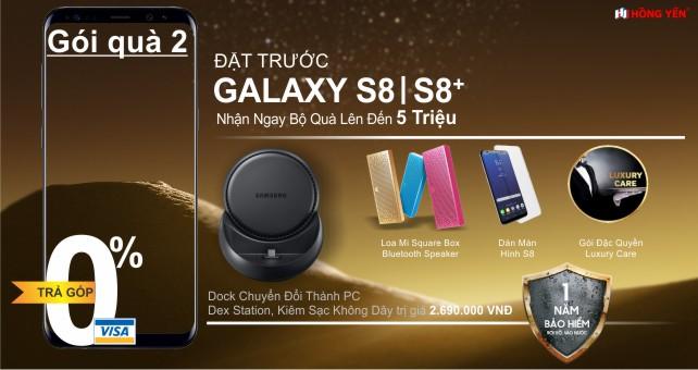Đặt Trước Samsung Galaxy S8, s8 plus nhận ngay bộ quà tặng khủng 5 triệu