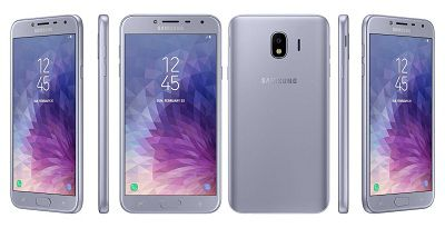 Điện thoại Samsung Galaxy J4 2018 với những góc bo cong mềm mại và tinh tế
