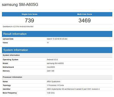 Samsung Galaxy A6 Plus với chỉ số hiệu năng ổn định