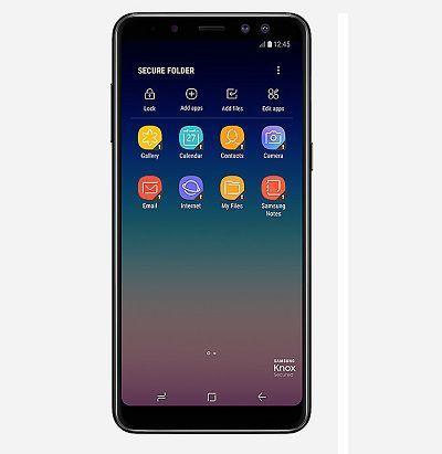 Với các ứng dụng bảo mật được tích hợp trên Samsung Galaxy A8 2018